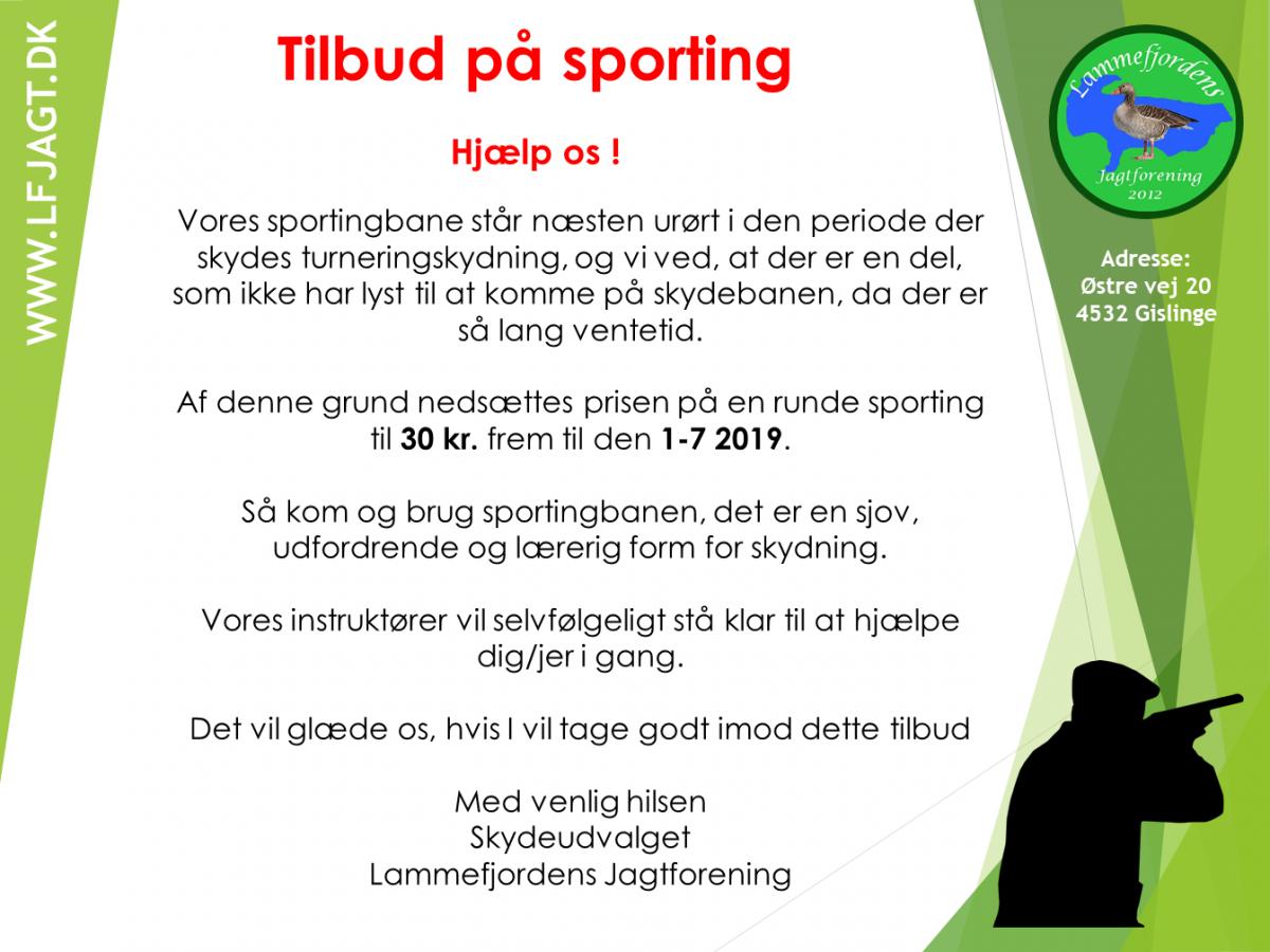 Tilbud Sporting